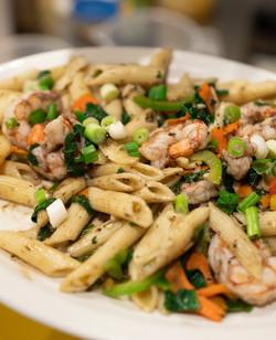 Rasta Pasta with Shrimp