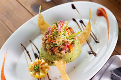 Guacamole Tower (snapper, pico, zucchini