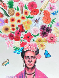 Helados Frida Wall Mural