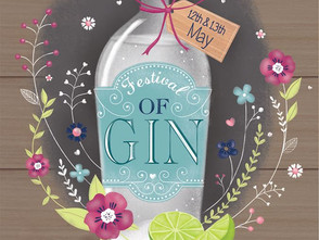 New print works in association with the Bury St Edmunds Festival of Gin!