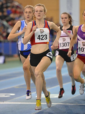 Image of University of Birmingham athlete competing at BUCS indoor champsionships