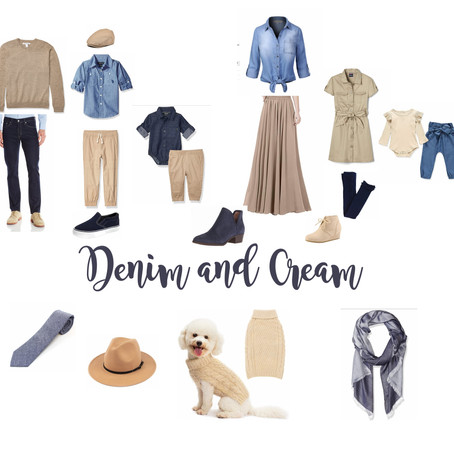What to Wear for Family Photos: Denim & Cream