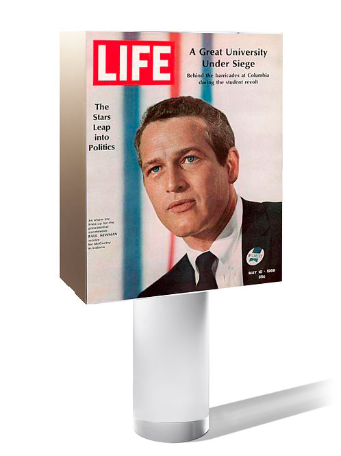 Paul Newman | LIFE 1968 (USA). « The stars leap into politics ».