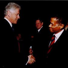 Robert Brack with President Bill Clinton