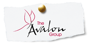 The Avalon Group logo torn newspaper and
