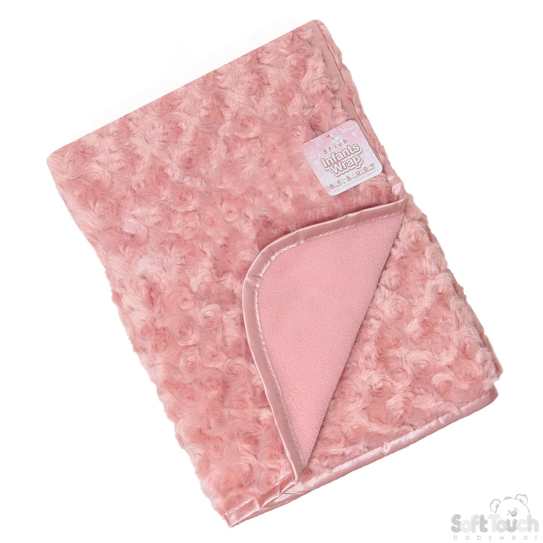 Infant's Rose-Bud Minky Wrap in Rose Gold - Bulk Pack
