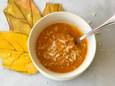 Sopa de calabaza y zanahoria
