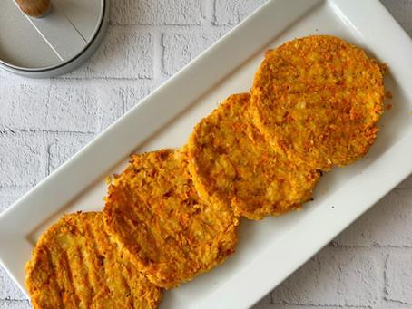 Hamburguesas de garbanzo y zanahoria