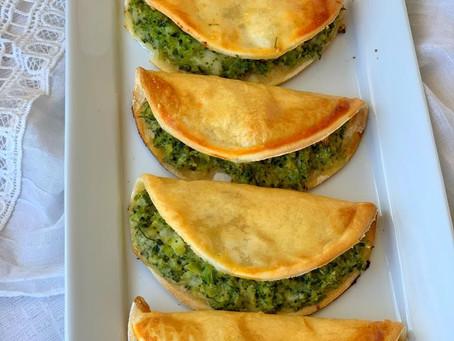 Empanadas rellenas de brócoli y queso