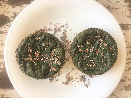 Muffins de espinaca y avena