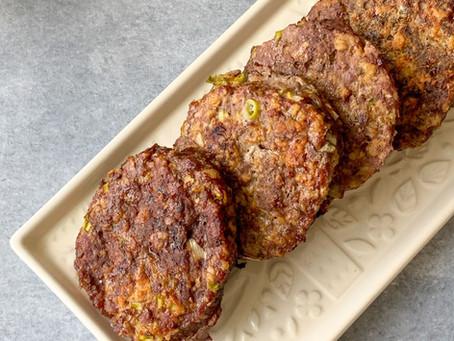 Hamburguesas de carne con avena