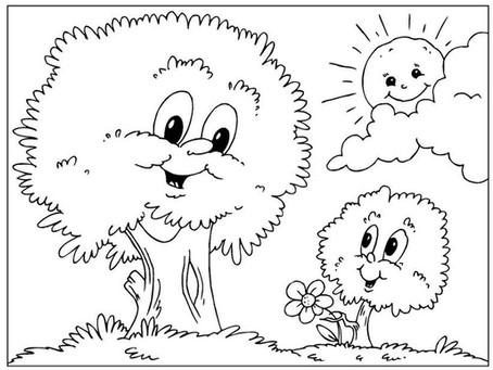 Desenhos para colorir - Dia da Árvore