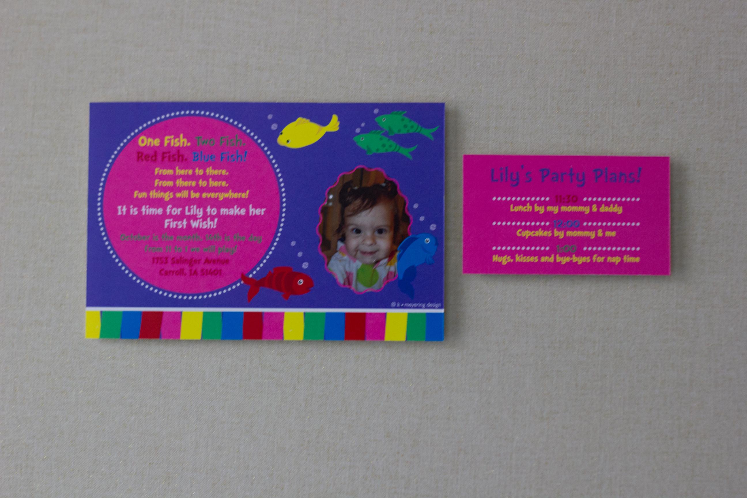 Birthday Invite & Info Card
