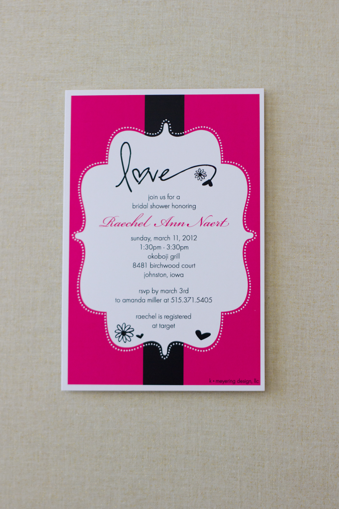 Bridal Shower Invite - Raechel