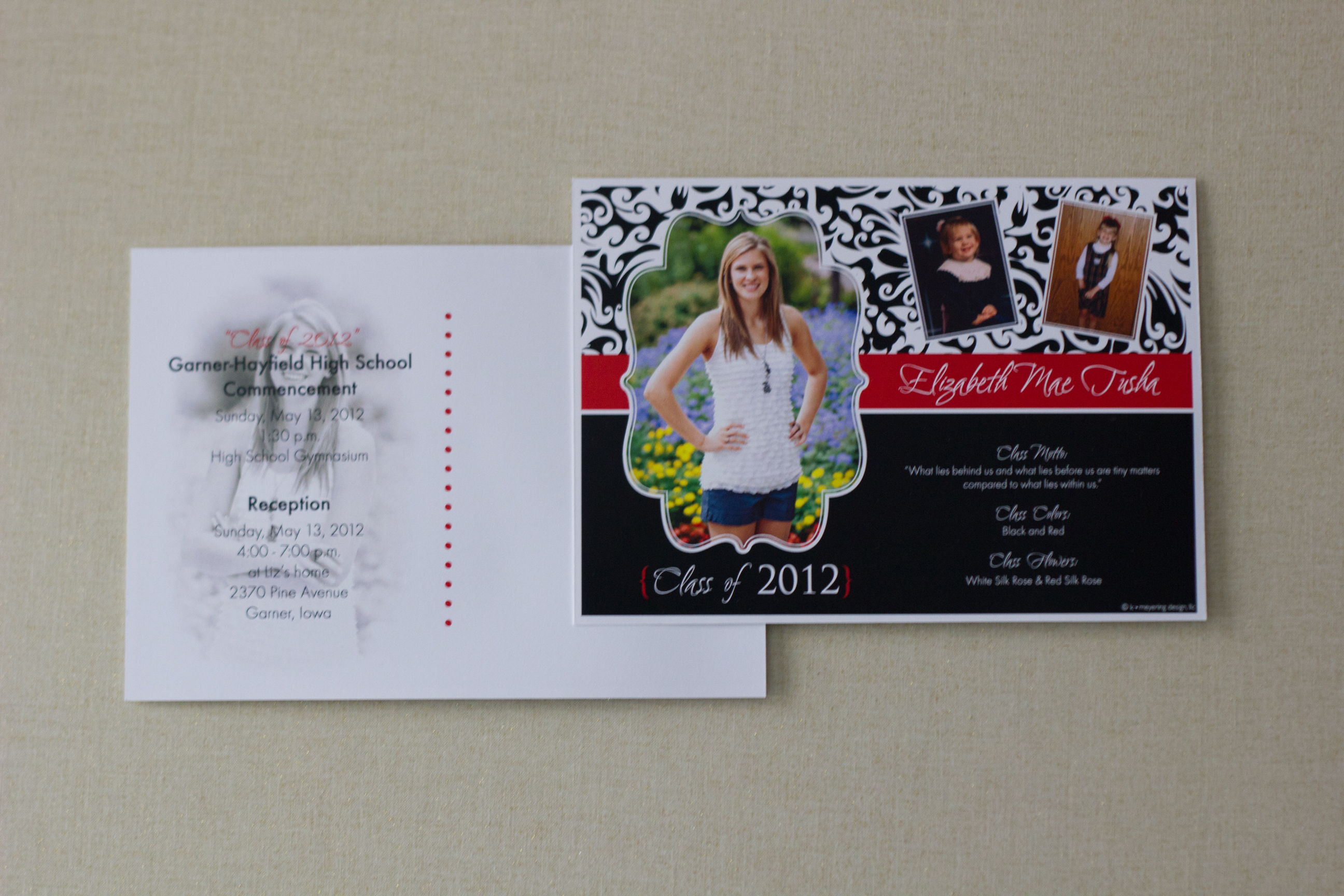 Graduation Invite {front & back}