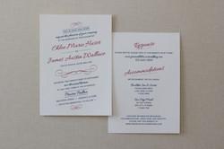 Invitation {front & back}