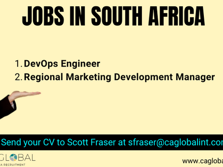 Jobs in South Africa - DevOps Engineer and Marketing Development Manager