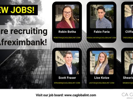 New Jobs Approved - Recruiting at Afreximbank - Egypt, Nigeria, Zimbabwe