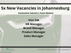 5x Jobs in South Africa - Work for an Asian Automotive Manufacturer