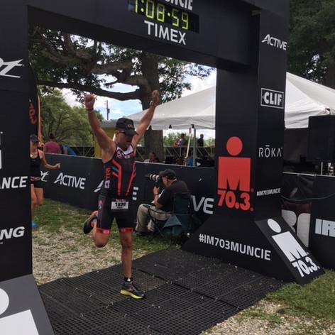 Ironman finishline