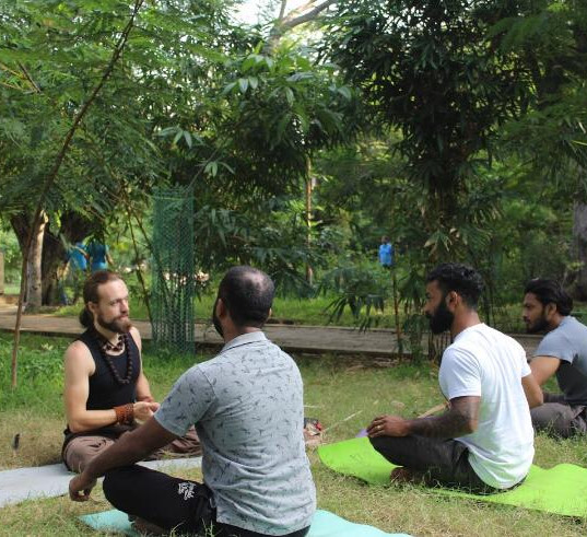 """Learning yoga in Nature gives the best feeling"""""""