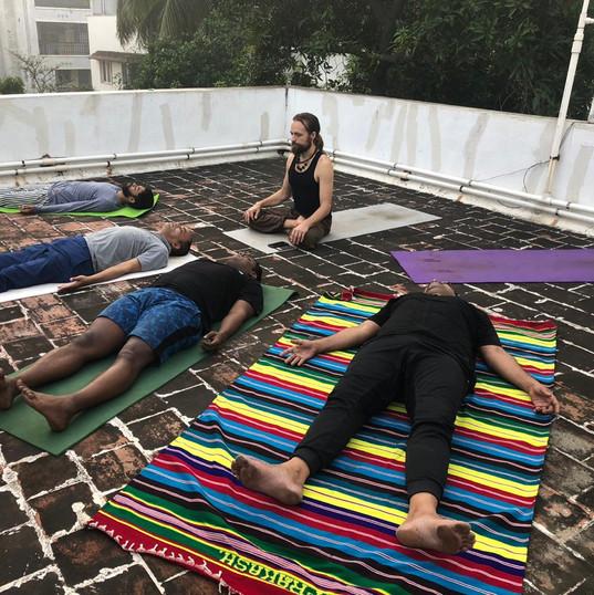 Relaxing Shavasana