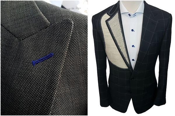 white label suits, machine sewn buttonhole, suit jacket, suit jacket houston, suit jacke aderley edge