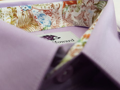 Purple shirt with funky floral trim