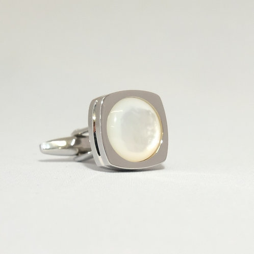 Round Rimmed Mother Of Pearl Cufflinks