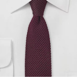 Burgundy Silk Knitted Tie