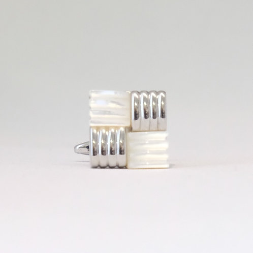 Mother Of Pearl Knot Weave Cufflinks