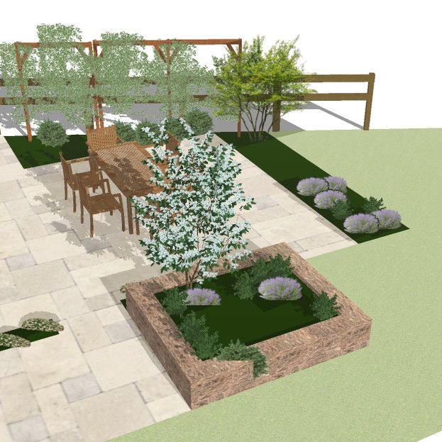 Broadhembury Courtyard Garden