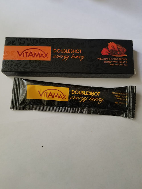 Vitamax Double shot Energy Honey,  1 sachet in box, 1 every 3 days