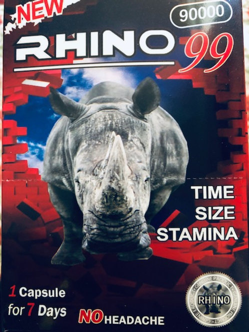 Rhino 99, 48 pills in one pack  NO HEADACHE