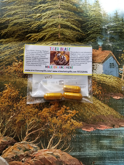 Tiger Blast Sample 800 mg; improving your sexual performance