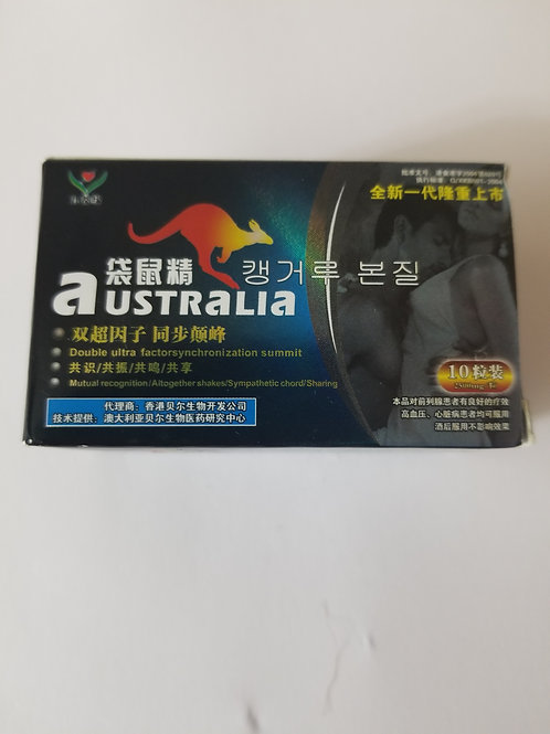 Australia 10 pill. Dosage: take one pill 20 minuntes just before sex