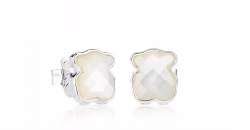 8c5adf5e4556 TOUS Color earrings in sterling silver and faceted mother of pearl.