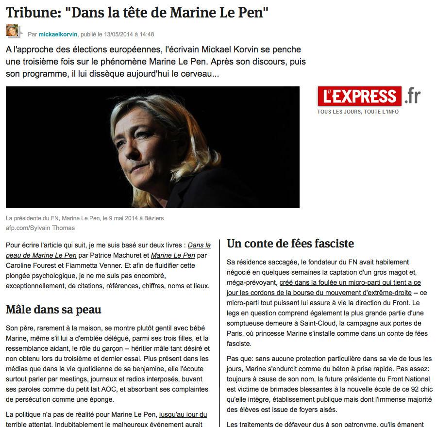 4. Marine Le Pen (son cerveau)