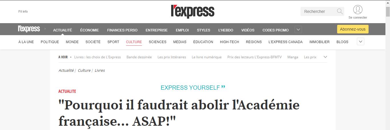 Pourquoi il faudrait abolir l'Académie française... ASAP!