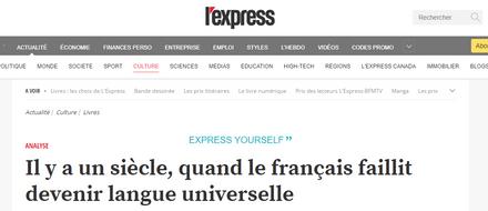 Il y a un siècle, quand le français faillit devenir langue universelle