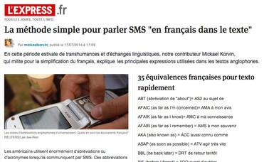 SMS en français