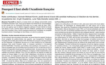 Abolir l'Académie p1.