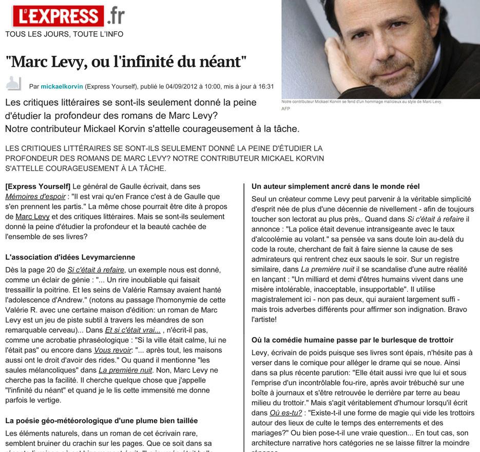 Marc Levy - Genie?