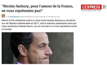 Sarkozy, non!