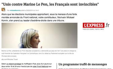 Marine Le Pen (son discours)