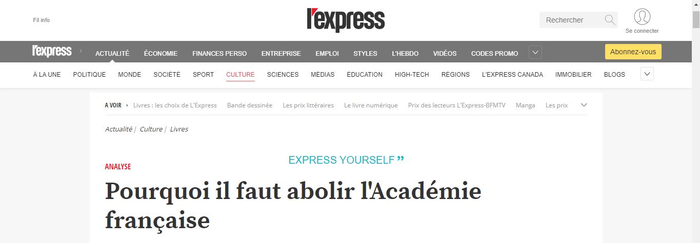 Pourquoi il faut abolir l'Académie française