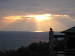 Sunrise over the Aegean Sea