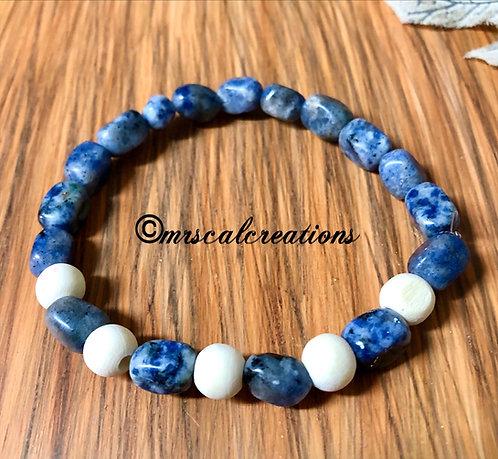 Sodalite Nugget Stone Bracelet