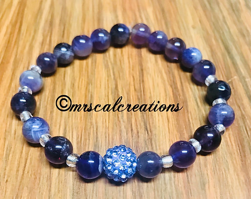 Purple Natural Amethyst Bracelet