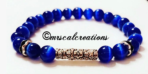 Blue Cateye Bracelet